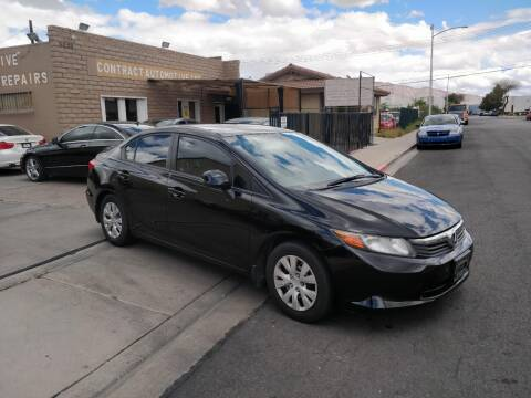 2012 Honda Civic for sale at CONTRACT AUTOMOTIVE in Las Vegas NV