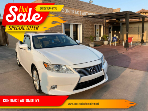 2015 Lexus ES 300h for sale at CONTRACT AUTOMOTIVE in Las Vegas NV