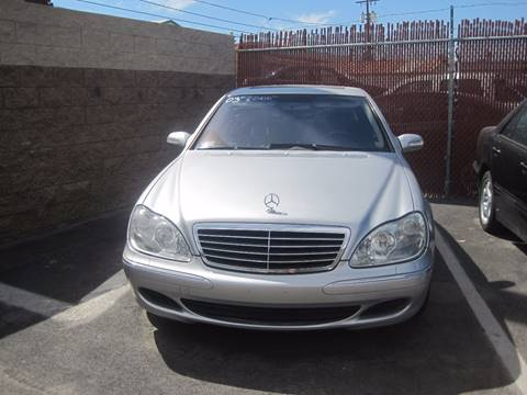 2002 Mercedes-Benz S-Class for sale at CONTRACT AUTOMOTIVE in Las Vegas NV