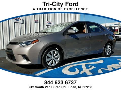 2015 Toyota Corolla for sale in Eden NC