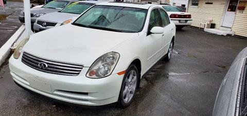 2004 Infiniti G35 for sale at Russo's Auto Exchange LLC in Enfield CT