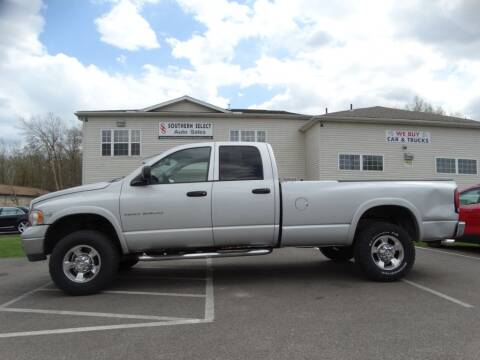 2005 Dodge Ram Pickup 2500 for sale at SOUTHERN SELECT AUTO SALES in Medina OH