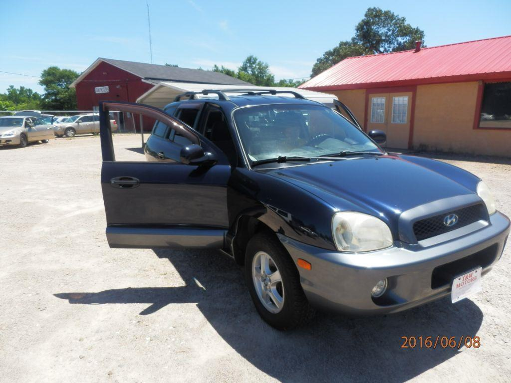 2004 HYUNDAI SANTA FE GLS AWD 4DR SUV blue down payment 120000  monthly payment 22500  cash