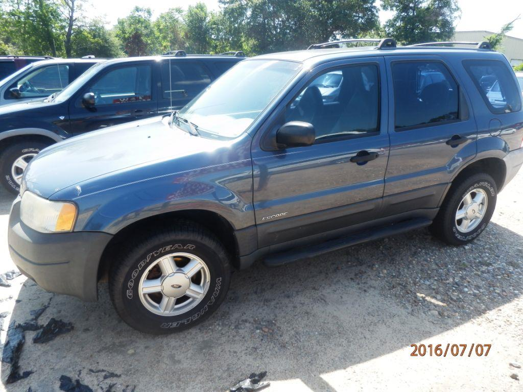 2001 FORD ESCAPE XLS 4WD 4DR SUV blue front air conditioningcenter consolemulti-function remote