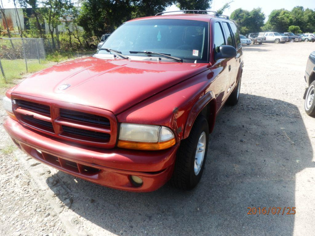 2000 DODGE DURANGO red 253391 miles VIN 1B4HR28Y0YF139792