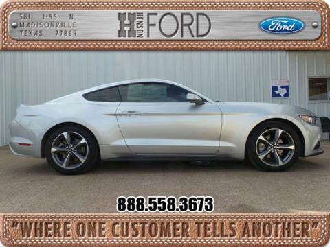 2015 Ford Mustang for sale in Madisonville TX