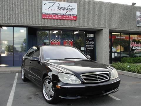 2001 Mercedes-Benz S-Class for sale in Rancho Cordova, CA