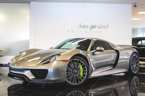 Porsche 918 Spyder For Sale >> 2015 Porsche 918 Spyder For Sale In Bellevue Wa