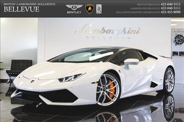 2015 Lamborghini Huracan for sale in Bellevue, WA