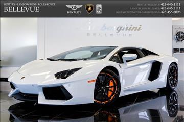 2013 Lamborghini Aventador for sale in Bellevue, WA