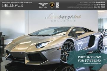 2014 Lamborghini Aventador for sale in Bellevue, WA
