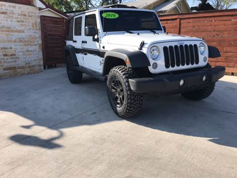 2016 Jeep Wrangler Unlimited for sale at Speedway Motors TX in Fort Worth TX