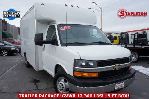 2016 Chevrolet Express Cutaway 3500 for sale at STAPLETON MOTORS in Commerce City CO