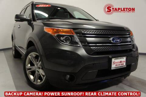 2015 Ford Explorer Limited for sale at STAPLETON MOTORS in Commerce City CO