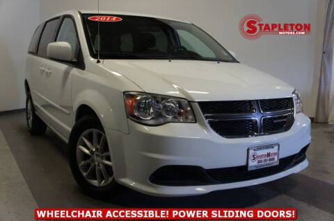 2014 Dodge Grand Caravan SXT for sale at STAPLETON MOTORS in Commerce City CO