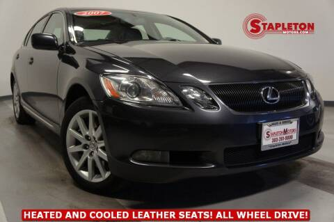 2007 Lexus GS 350 for sale at STAPLETON MOTORS in Commerce City CO