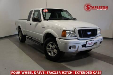 2004 Ford Ranger for sale at STAPLETON MOTORS in Commerce City CO