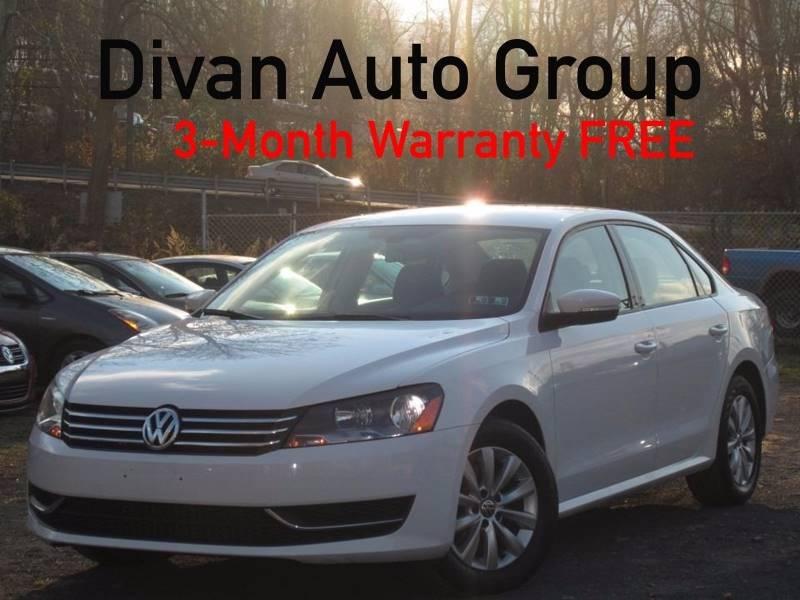 2012 Volkswagen Passat for sale at Divan Auto Group in Feasterville Trevose PA