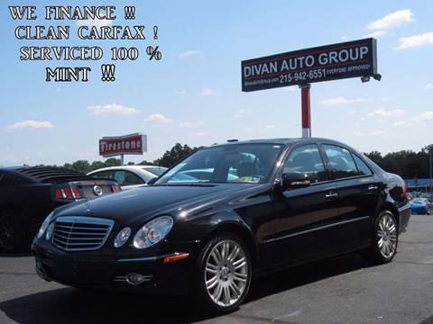 2007 Mercedes-Benz E-Class for sale at Divan Auto Group in Feasterville PA