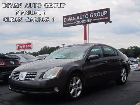2006 Nissan Maxima for sale at Divan Auto Group in Feasterville PA