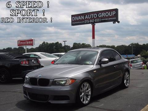 2013 BMW 1 Series for sale at Divan Auto Group in Feasterville PA