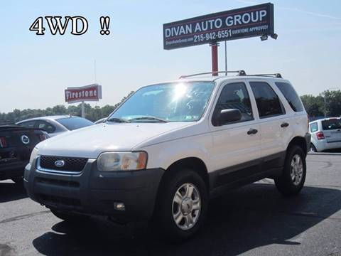 2003 Ford Escape for sale at Divan Auto Group in Feasterville PA