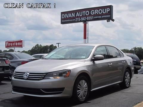 2012 Volkswagen Passat for sale at Divan Auto Group in Feasterville PA