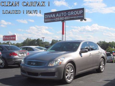 2009 Infiniti G37 Sedan for sale at Divan Auto Group in Feasterville PA