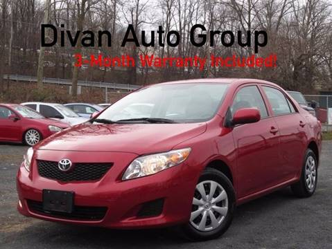 2010 Toyota Corolla for sale at Divan Auto Group in Feasterville Trevose PA