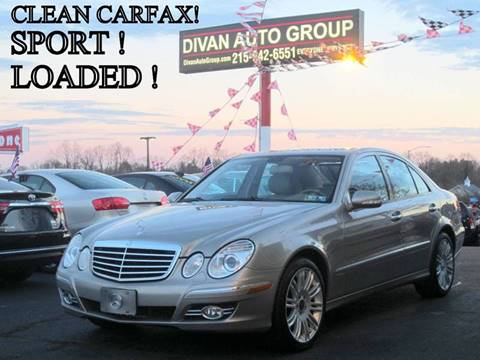 2008 Mercedes-Benz E-Class for sale at Divan Auto Group in Feasterville PA