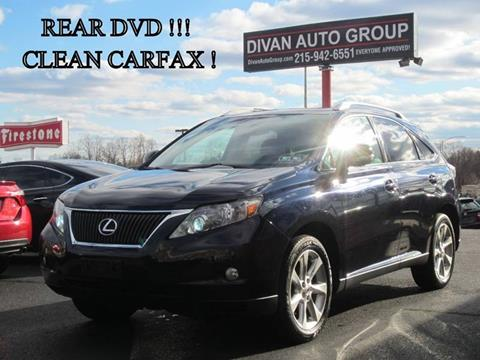 2010 Lexus RX 350 for sale at Divan Auto Group in Feasterville Trevose PA