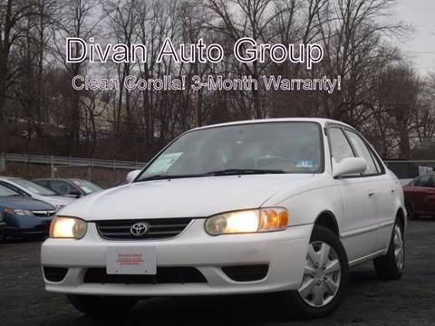 2001 Toyota Corolla for sale at Divan Auto Group in Feasterville Trevose PA