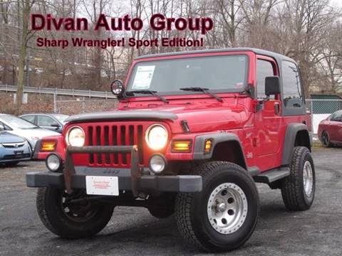 2002 Jeep Wrangler for sale at Divan Auto Group in Feasterville PA