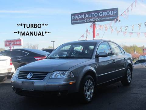 2003 Volkswagen Passat for sale at Divan Auto Group in Feasterville PA