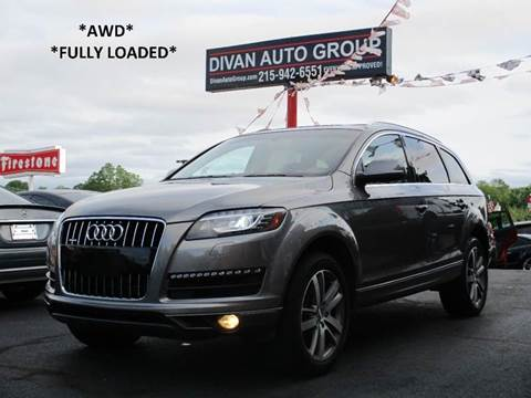 2015 Audi Q7 for sale at Divan Auto Group in Feasterville Trevose PA