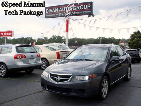 2004 Acura TSX for sale at Divan Auto Group in Feasterville Trevose PA