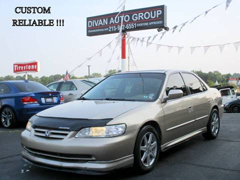 2001 Honda Accord for sale at Divan Auto Group in Feasterville Trevose PA