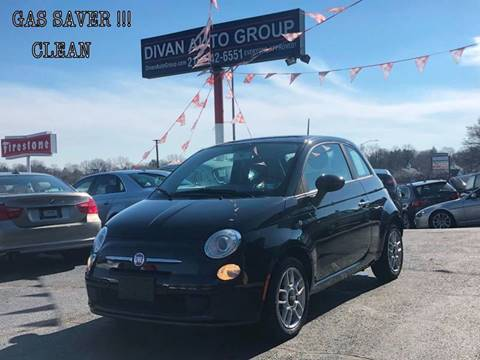2013 FIAT 500 for sale at Divan Auto Group in Feasterville PA