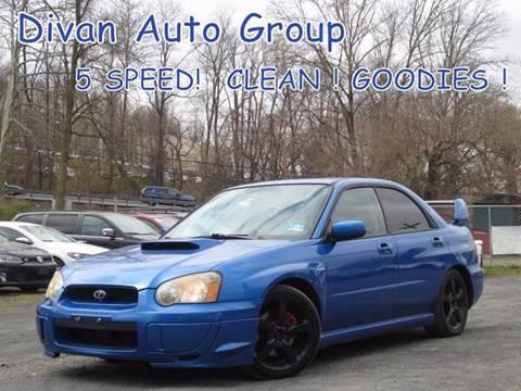 2004 Subaru Impreza for sale at Divan Auto Group in Feasterville Trevose PA