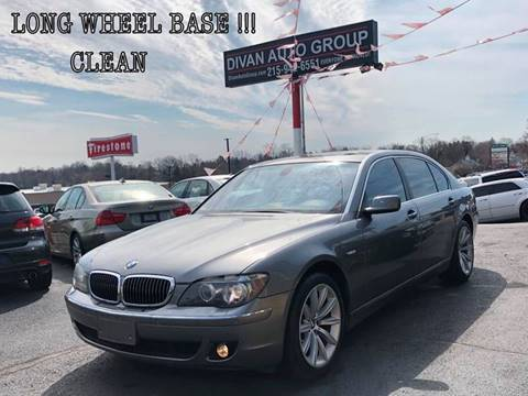 2007 BMW 7 Series for sale at Divan Auto Group in Feasterville PA
