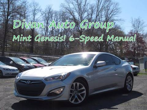 2013 Hyundai Genesis Coupe for sale at Divan Auto Group in Feasterville PA