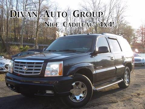 2004 Cadillac Escalade for sale at Divan Auto Group in Feasterville PA