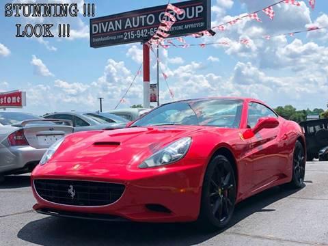 2010 Ferrari California for sale at Divan Auto Group in Feasterville PA