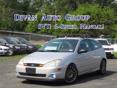 2003 Ford Focus SVT for sale at Divan Auto Group in Feasterville PA