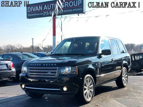 2010 Land Rover Range Rover for sale at Divan Auto Group in Feasterville PA