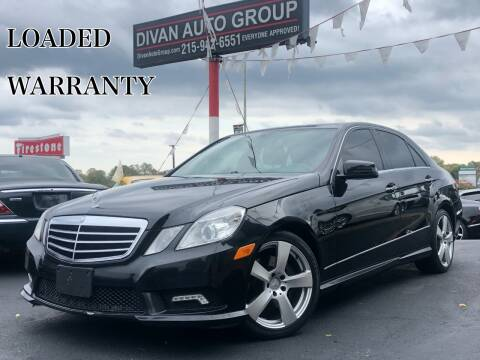 2011 Mercedes-Benz E-Class for sale at Divan Auto Group in Feasterville PA