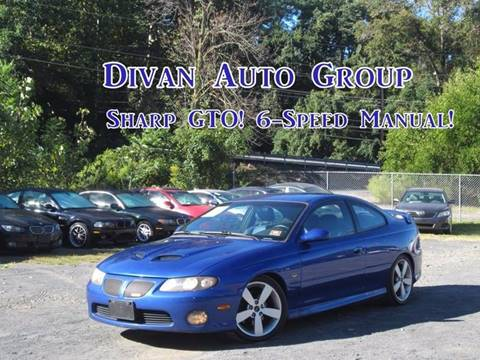 2006 Pontiac GTO for sale at Divan Auto Group in Feasterville PA