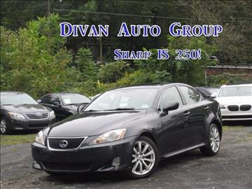 2006 Lexus IS 250 for sale at Divan Auto Group in Feasterville PA