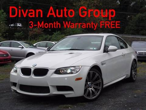 2011 BMW M3 for sale at Divan Auto Group in Feasterville PA