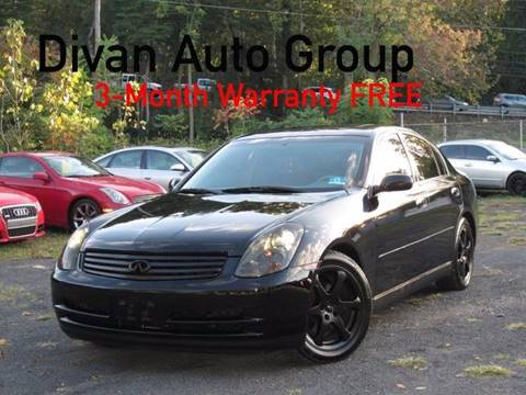 2004 Infiniti G35 for sale at Divan Auto Group in Feasterville PA